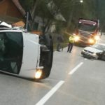 Două persoane rănite uşor în urma coliziuni dintre două autovehicule, petrecută pe DN 74 în apropiere de Izvorul Ampoiului