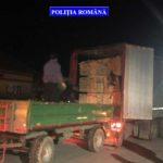 Bărbat din Alba surprins pe polițiștii din Criscior pe DN 74, în timp ce transporta 6 metri cubi de material lemnos fără aviz de însoțire a mărfii