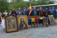 Osemintele domnitorului Mihai Viteazul, sabia lui Ștefan cel Mare și Icoana Maicii Domnului de la Meteora au poposit în orașul Abrud